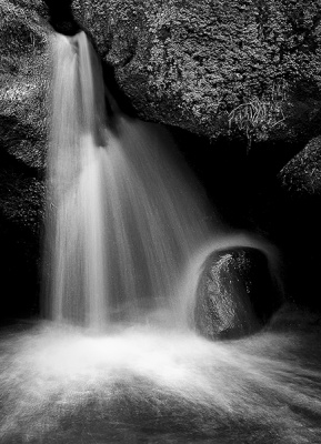 Waterfall and Boulder by Keith Gordon