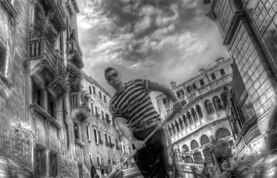 The Gondolier by Angela Caunce