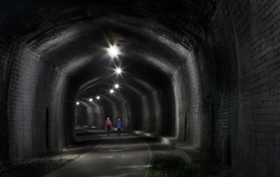 Walkers in the Tunnel by Lynne McPeake