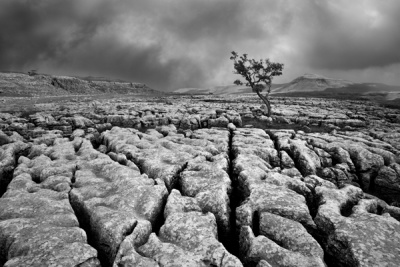 Twistleton Scars & Ingleborough by Phil Thompson