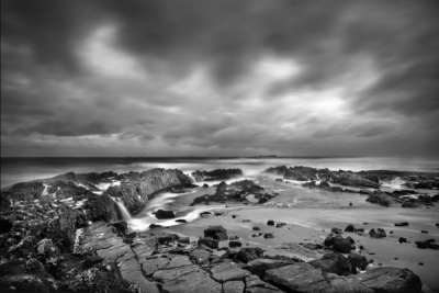 Stormy Morning at Harkness Rock by Phil Thompson