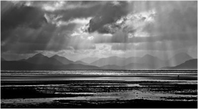 Lone Photographer, Applecross Bay by Bob Wade