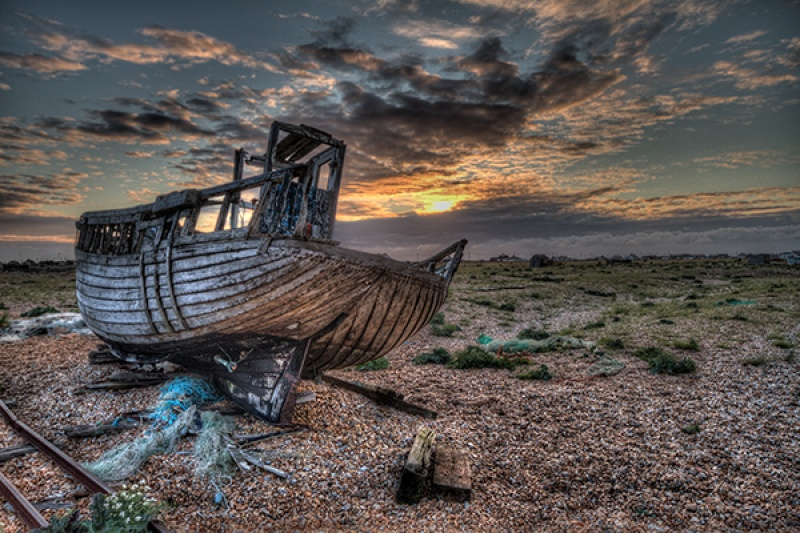 Abandoned Boat by Angela Caunce