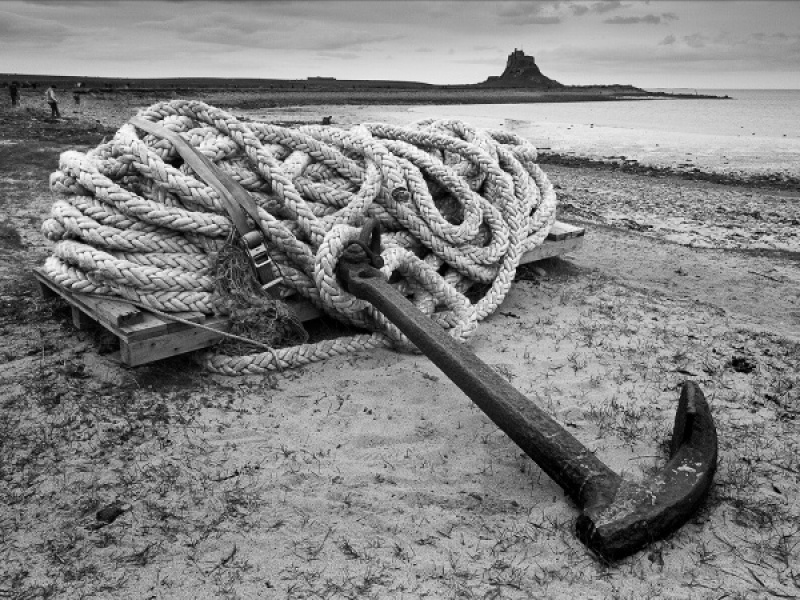 ANCHOR ROPE AND CASTLE by Ken Lomas