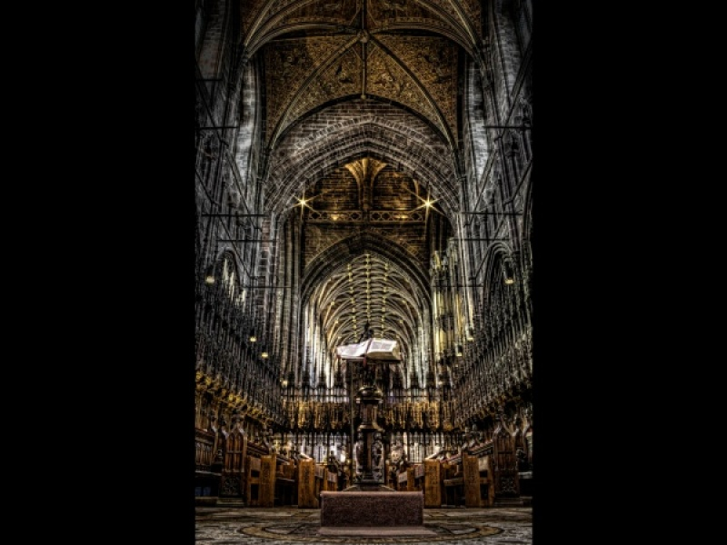 CHOIR STALLS AND LECTURN by David Blowers
