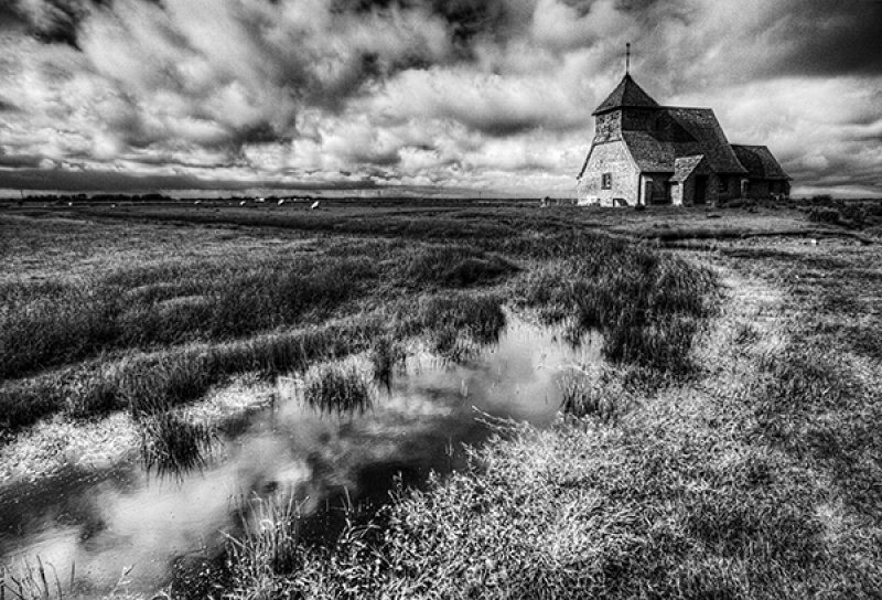 CHURCH IN THE MARSH by Angela Caunce