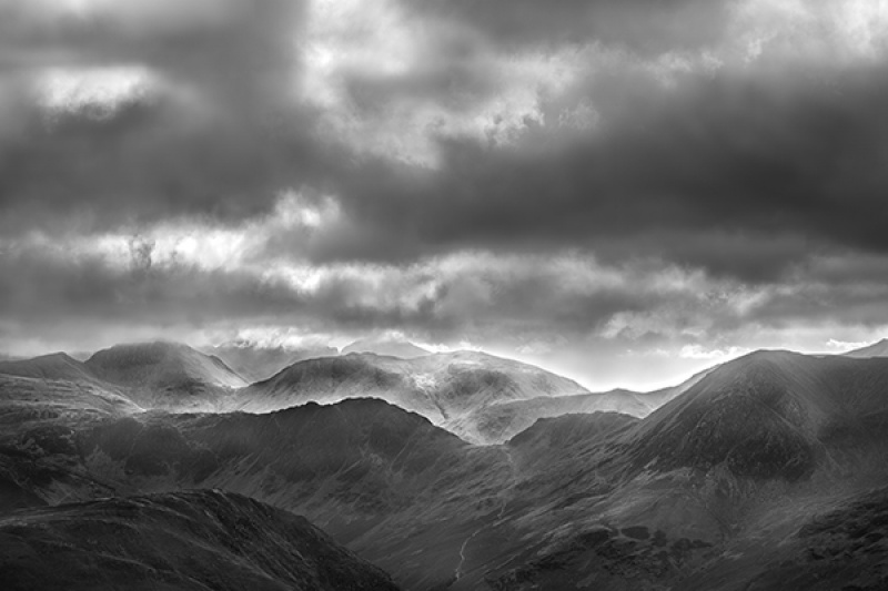 HAYSTACKS AND GREAT GABLE FROM AFAR by Phil Thompson