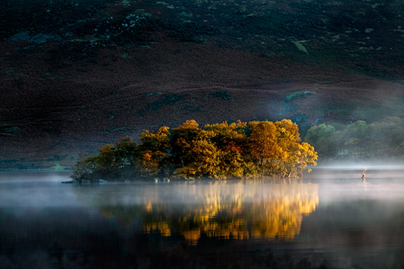 CRUMMOCK WATER AUTUMN REFLECTIONS by Phil Thompson