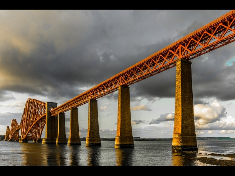 FORTH RAILWAY BRIDGE - LATE AFTERNOON by Dick Bateman