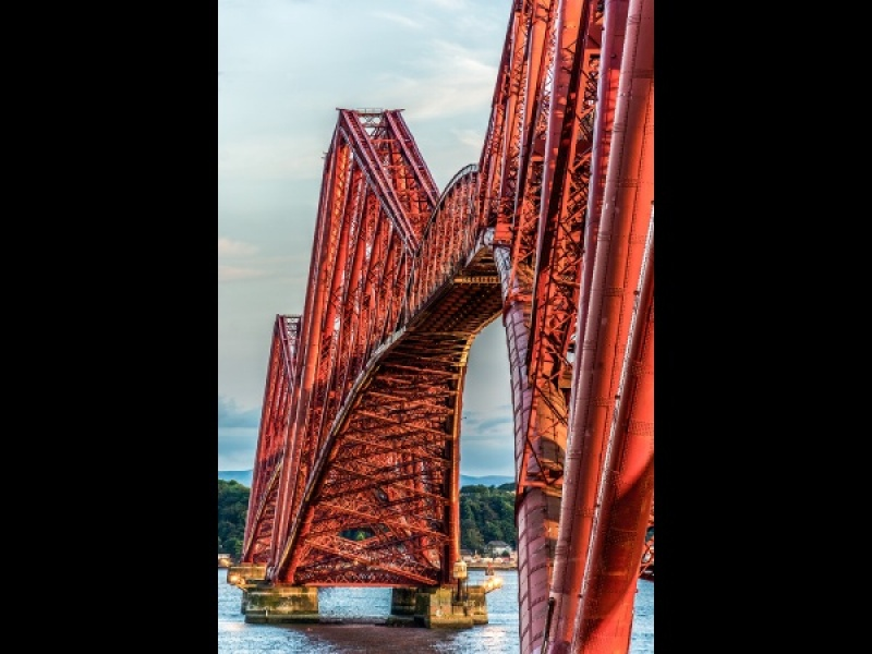 FORTH BRIDGE _ EVENING by Dick Bateman