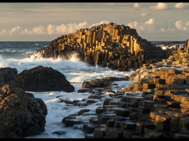 EVENING LIGHT, THE GIANT'S CAUSEWAY by Diane Thurlow