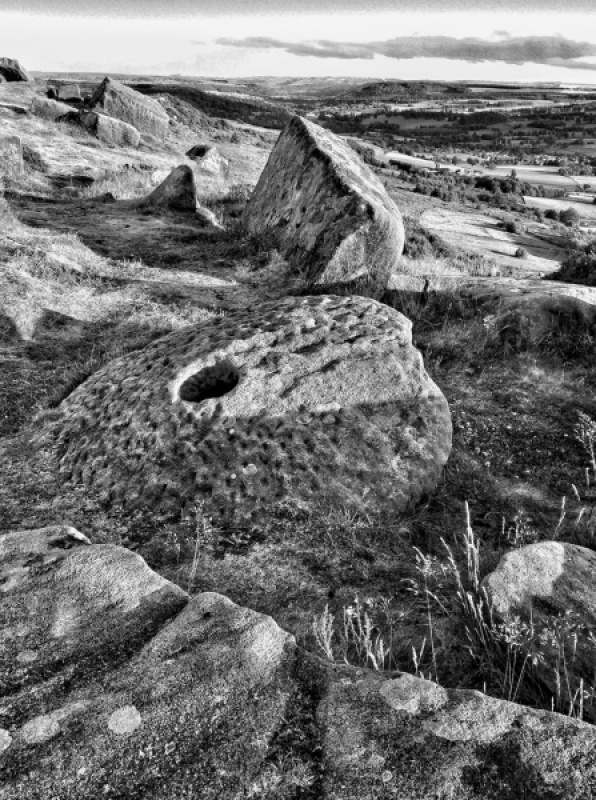 MILLSTONE ON CURBAR EDGE By Brian Bristol