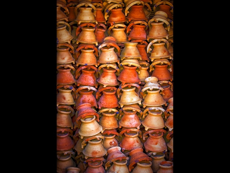 CHARCOAL POTS MARRAKECH by Philip Hanson