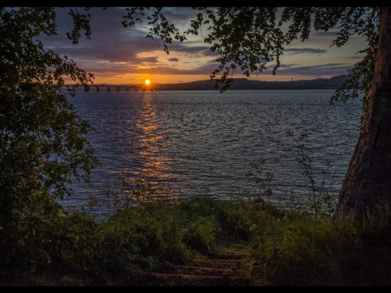 SUNSET OVER THE TAY by Dick Bateman