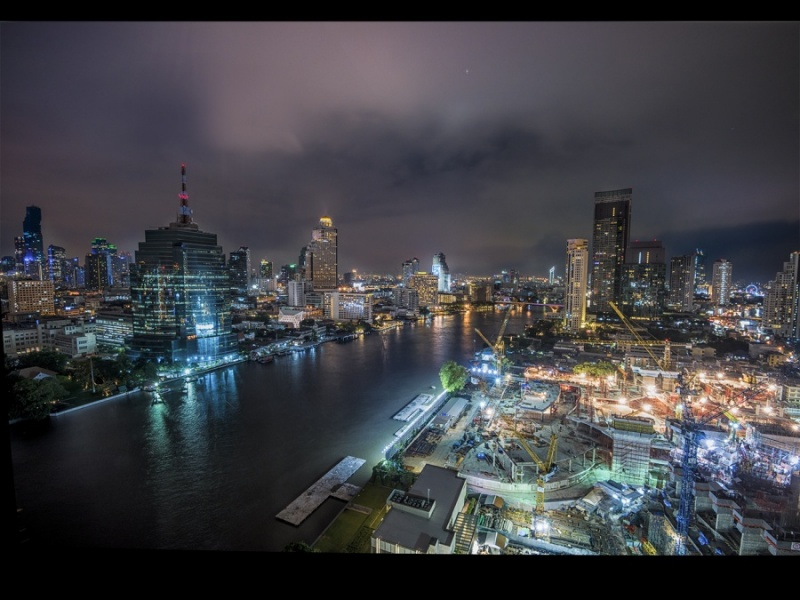 A VIEW OVER THE CHAO PHRAYA by Charlotte Nuttall