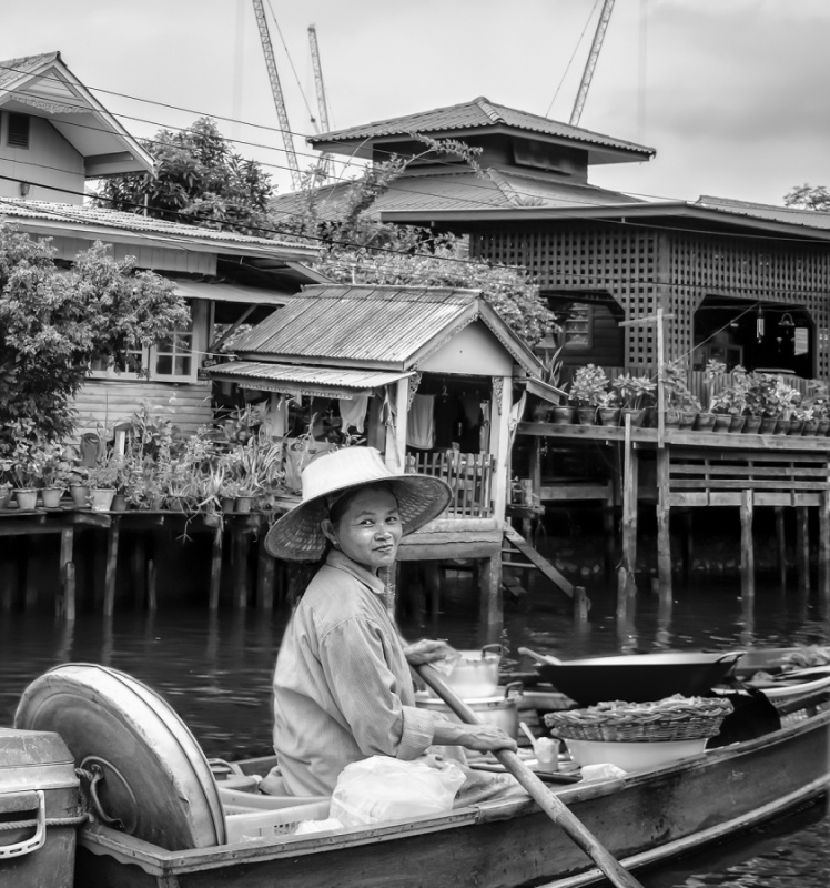 SELLING HOME MADE GOODIES ON THE RIVER - THAILAND by Charlotte Nuttall