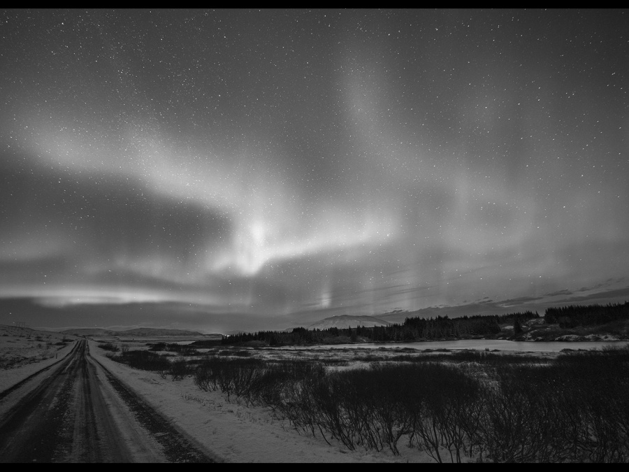 NORTHERN LIGHTS OVER SELFOSS By James Street