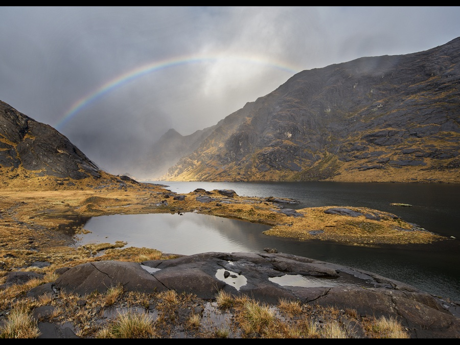 RAINBOW OVER LOCH CORUISK By James Street