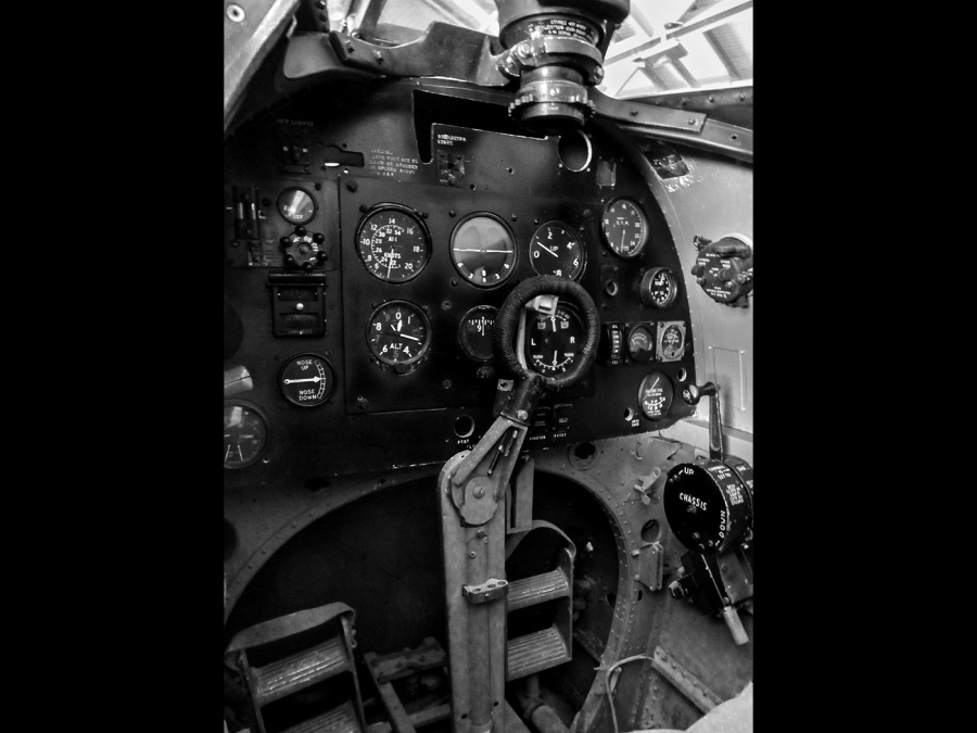 SPITFIRE MK 10 COCKPIT by John Pope