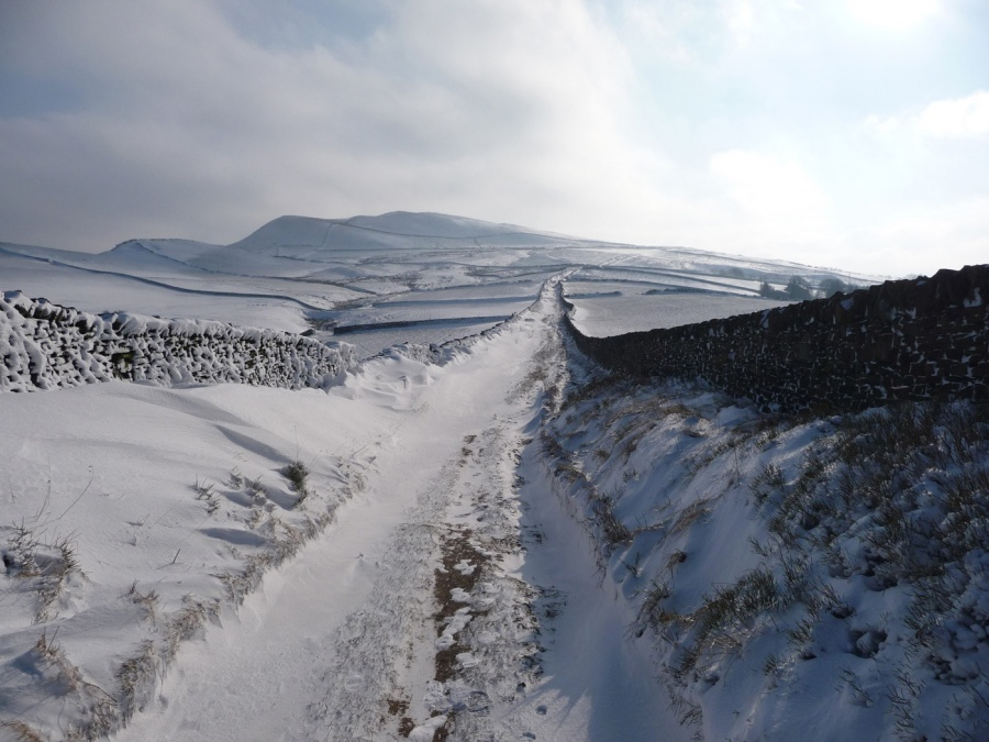 WINTER ABOVE HAYFIELD by Hilary Harmer
