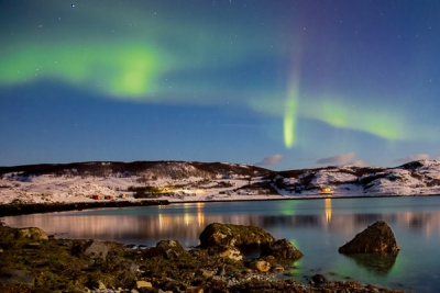 Aurora by Moonlight by Pete Roberts