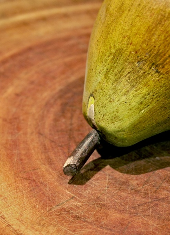 Wooden Pear by Susan Hughes
