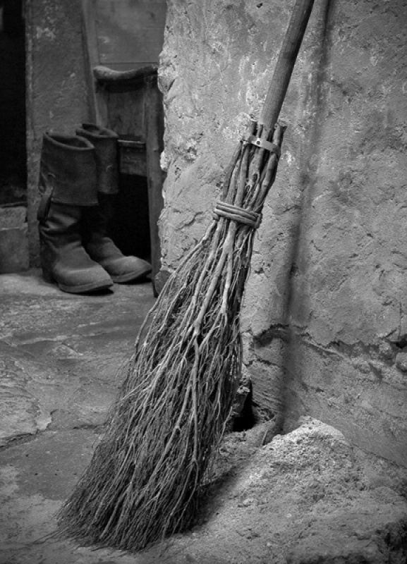 Old Broom by Susan Hughes