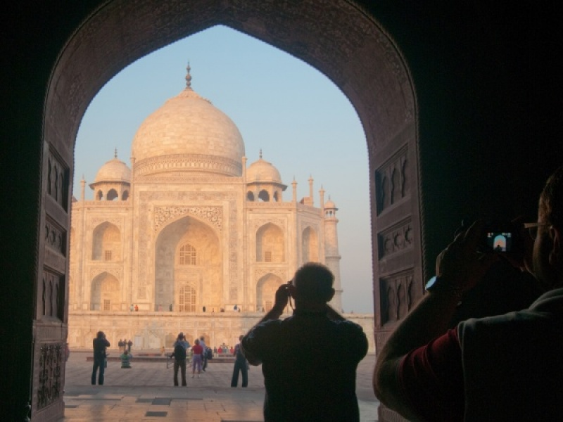 PHOTOGRAPHING THE TAJ MAHAL by Dorothy Challand