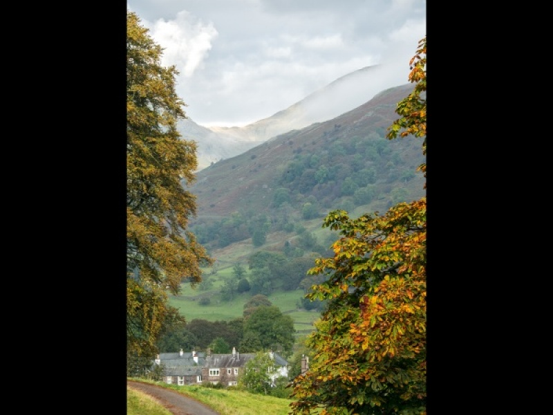 VIEW OF A DISTANT LAKE DISTRICT SADDLE by Terry Walker