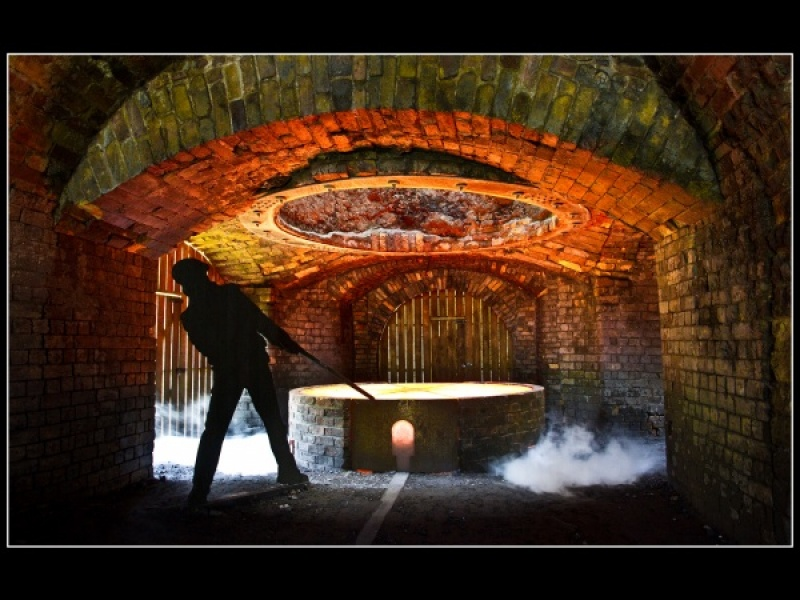 BLAENAVON IRONWORKS by Norma Wade