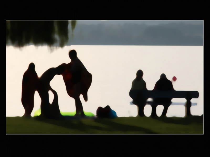 PEOPLE BY THE LAKE By Brian Bristol 45a