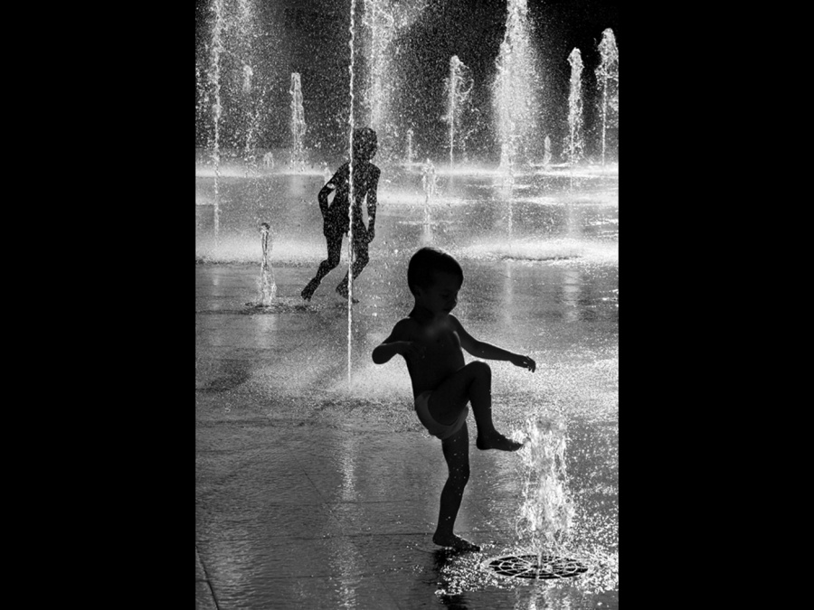 FUN IN THE FOUNTAIN by Lynne McPeake