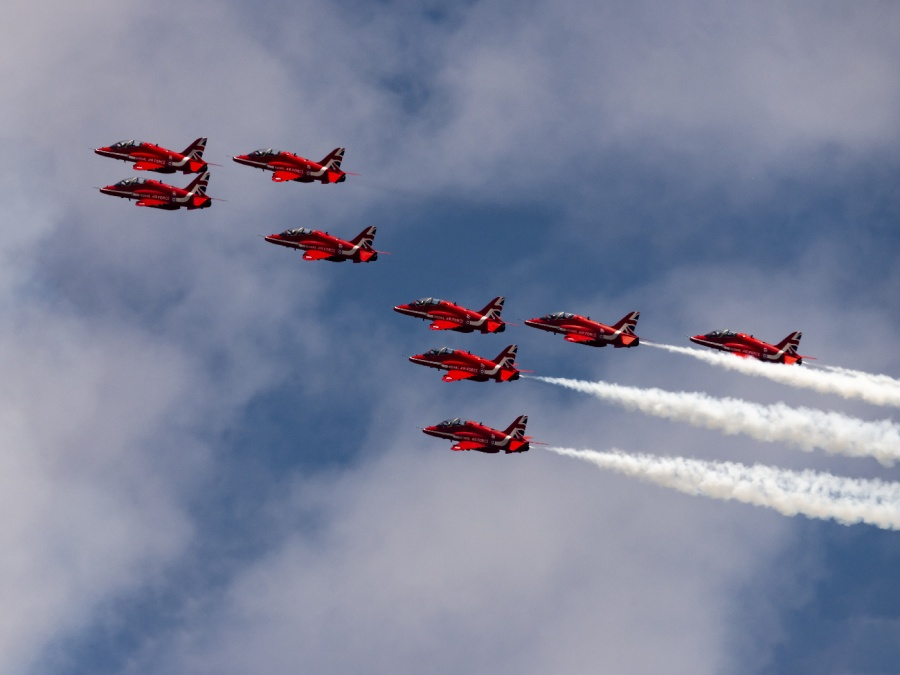 RED JETS 3 by Terry Walker