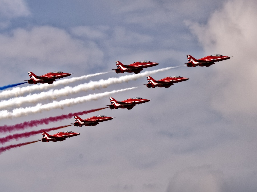 RED JETS 1 by Terry Walker